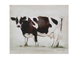 Standing Cow Canvas Wall Décor