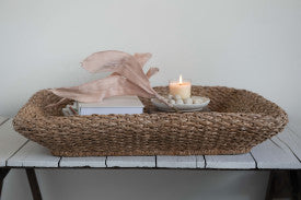 Oversized Handwoven Seagrass Tray/Basket