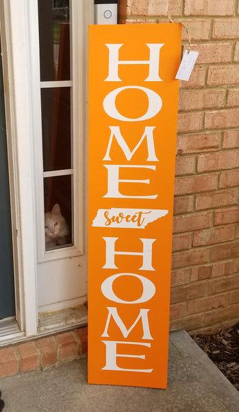 4 Foot Leaning Porch Sign - Home Sweet Home - Plush