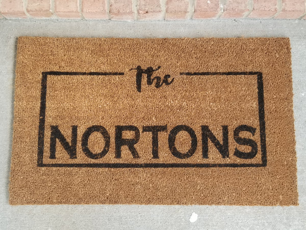 Personalized Welcome Mat/Doormat/Customized - Plush