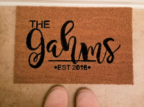 Personalized Welcome Mat/Doormat/Customized - 3 Sizes to Choose From - Plush