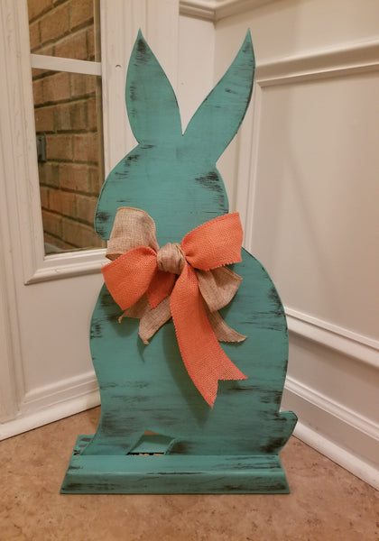 "24"" Custom Wood Bunny with Stand"