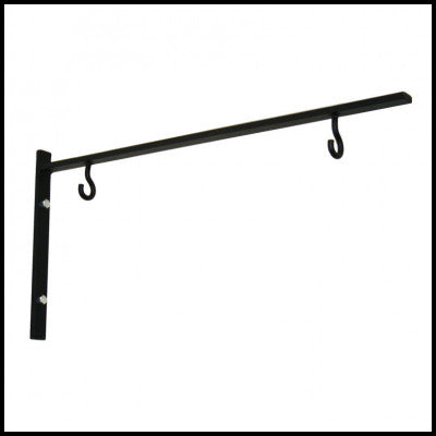 "24"" Simple Black Sign Bracket - Perfect for Businesses or Outside the Home - NO SIGN - Plush"