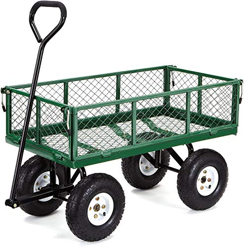 Steel Garden Cart with Removable Sides, 400-lbs. Capacity, Green