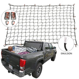 "Cargo Nets for Pickup Trucks, 4'X6' Latex Cargo Net Stretches to 8'x12', Universal Heavy Duty Truck Bed Net,16 Tangle-Free D Clip Carabiners, 4""x4"" Mesh Holds Small Large Loads Tighter - Plush"