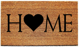 "HOME Doormat with Image in Place of ""O""/Welcome Mat - 3 Sizes to Choose From - Plush"