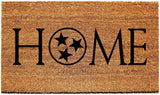 HOME Doormat with Tennessee Tristar/Welcome Mat - 3 Sizes to Choose From - Plush