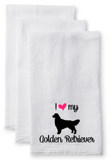 Tea Towel/Flour Sack Towel - I love my ... dog/cat breed - Plush