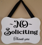 No Soliciting Hanging Sign - Plush