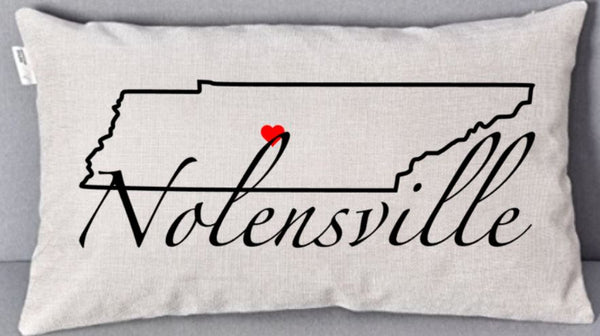 Natural Linen Pillow - Nolensville, TN - Your City and State