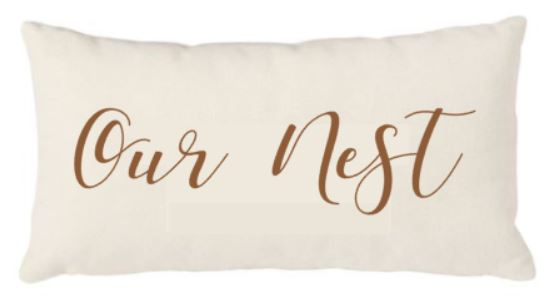 12x20 Natural Canvas Pillow - Our Nest - Plush