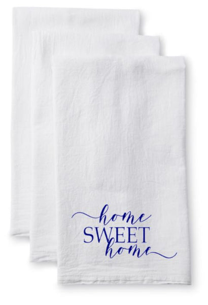Tea Towel/Flour Sack Towel - Home Sweet Home - Plush