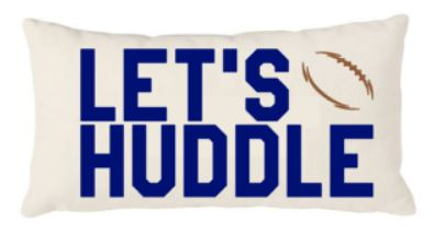 12x20 Natural Canvas Pillow - Let's Huddle - Plush