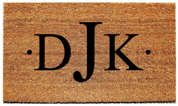 Doormat with Custom Monogram - 3 Sizes to Choose From - Plush