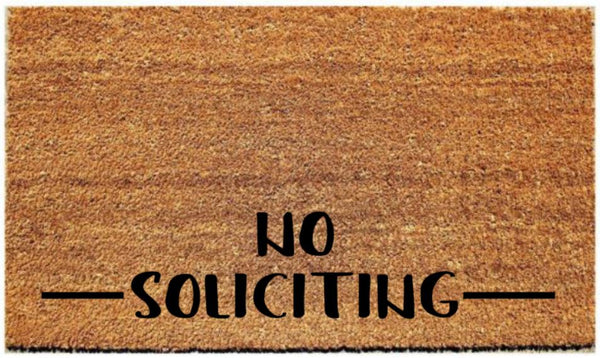 "Doormat with ""No Soliciting"" - 3 Sizes to Choose From - Plush"