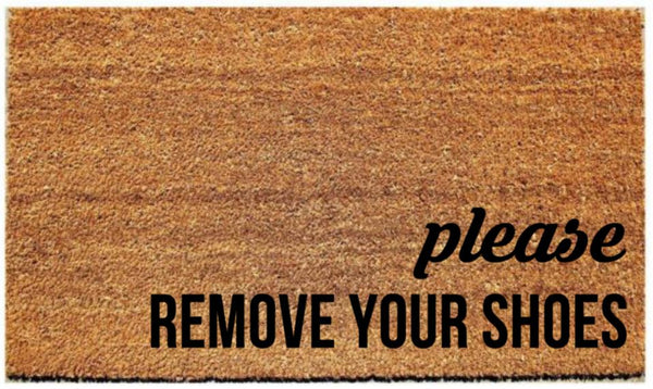 "Doormat with ""Please remove your shoes"" - 3 Sizes to Choose From - Plush"