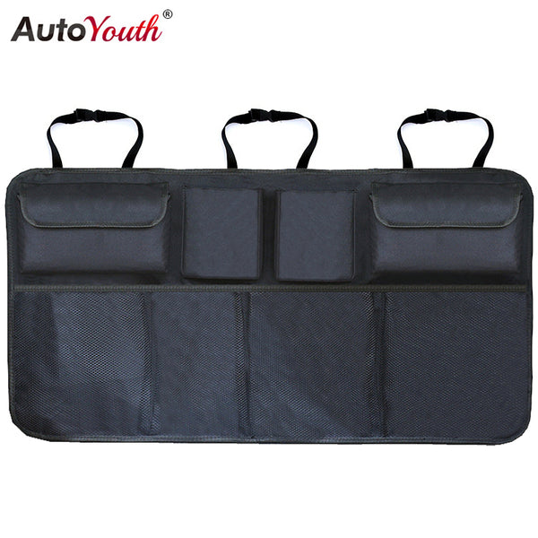 Car Trunk Organizer/Adjustable Backseat Storage Bag - Plush