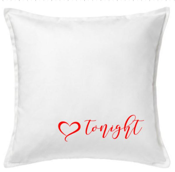 20 inch Cotton Pillow Cover - Tonight/Maybe Tomorrow Couples  pillow - Plush