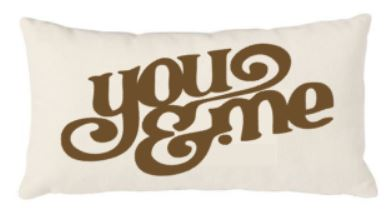 12x20 Natural Canvas Pillow - You & Me