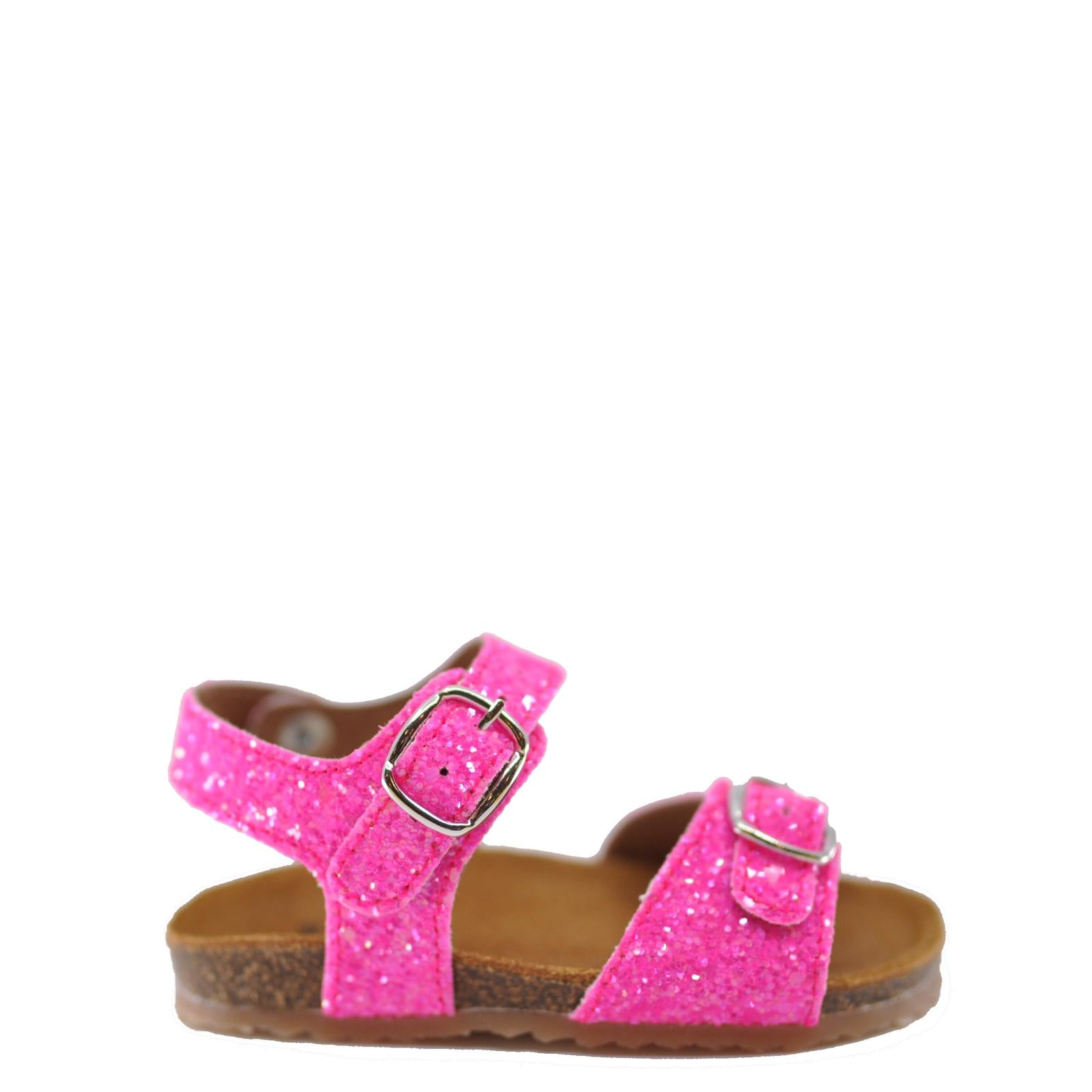 Pepe Neon Pink Sparkle Sandal-Tassel Children Shoes