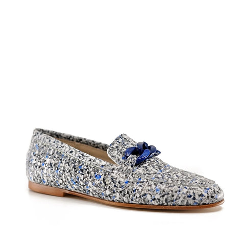 Hoo Leather Tweed Loafer-Tassel Children Shoes