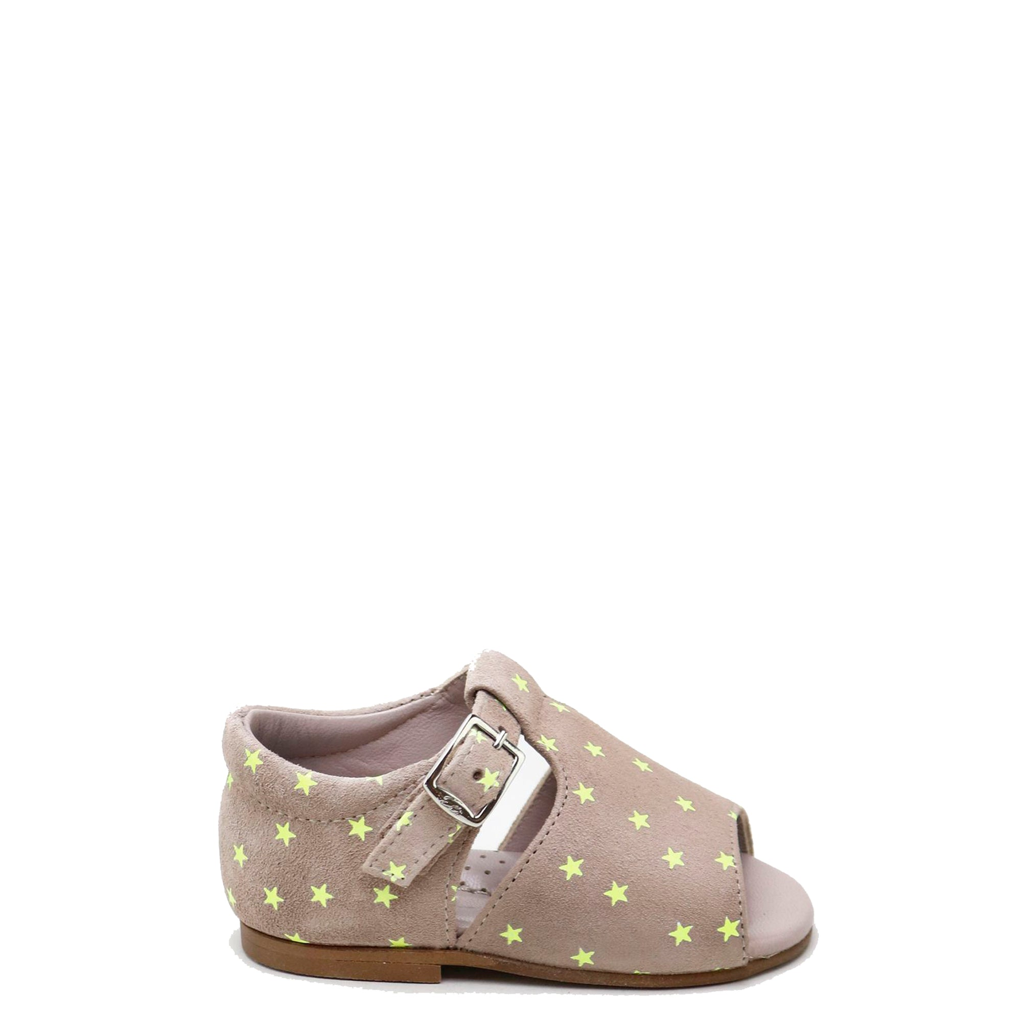 Papanatas Taupe and Neon Star Baby Sandal-Tassel Children Shoes