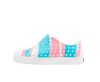 Native Jefferson Pink and Blue Stripe-Tassel Children Shoes