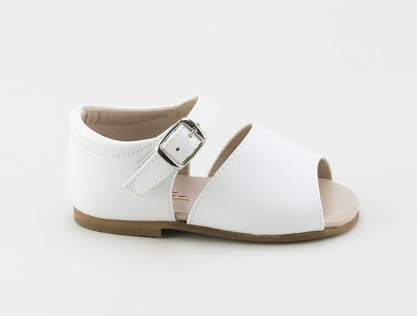Papanatas White Buckle Sandal-Tassel Children Shoes