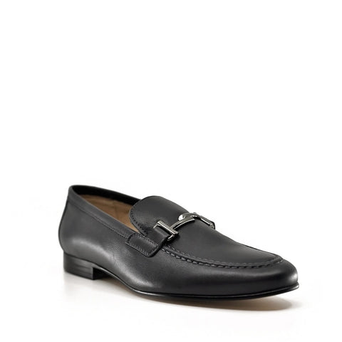 Hoo Dark Gray Slip-On Buckle Dress Shoes-Tassel Children Shoes