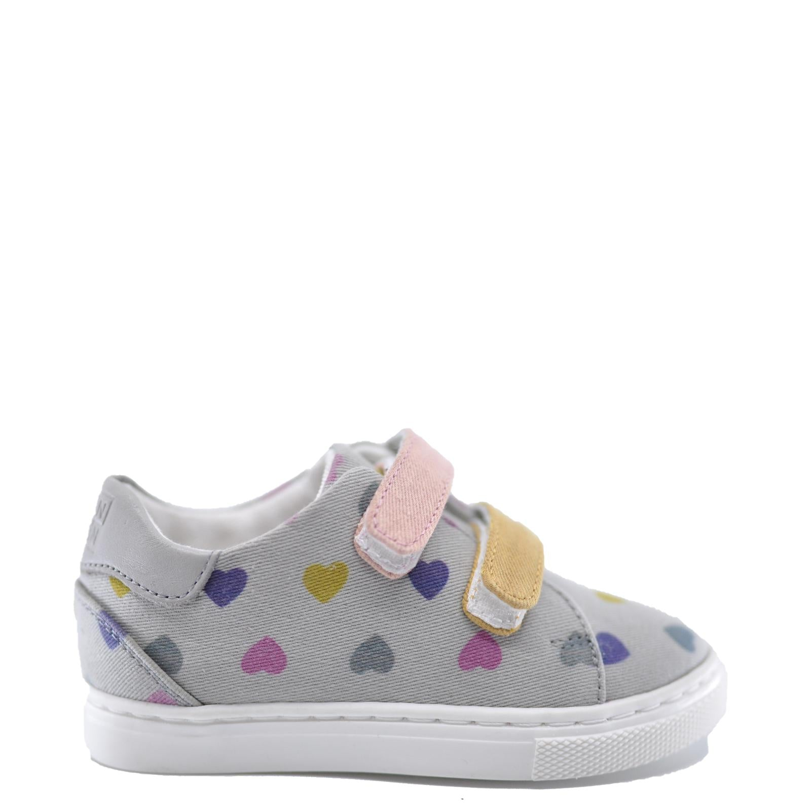BONTON Multi Hearts Velcro Sneaker-Tassel Children Shoes