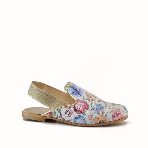 Hoo Floral Mule-Tassel Children Shoes