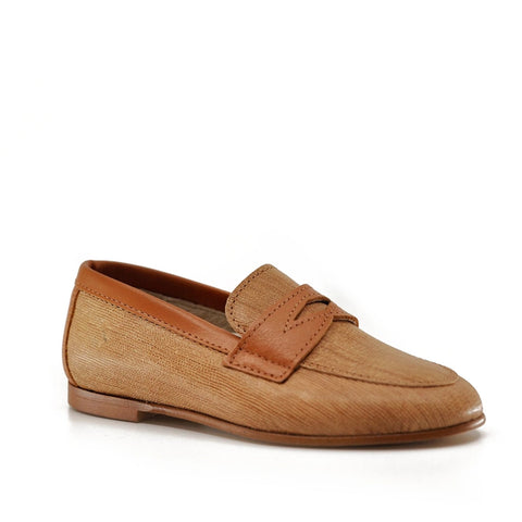 Hoo Camel Lined Penny Loafer-Tassel Children Shoes