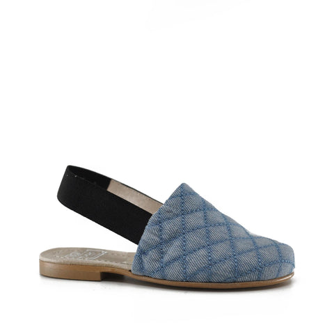 Hoo Denim Quilted Mule-Tassel Children Shoes