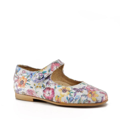 Hoo Floral Mary Jane-Tassel Children Shoes