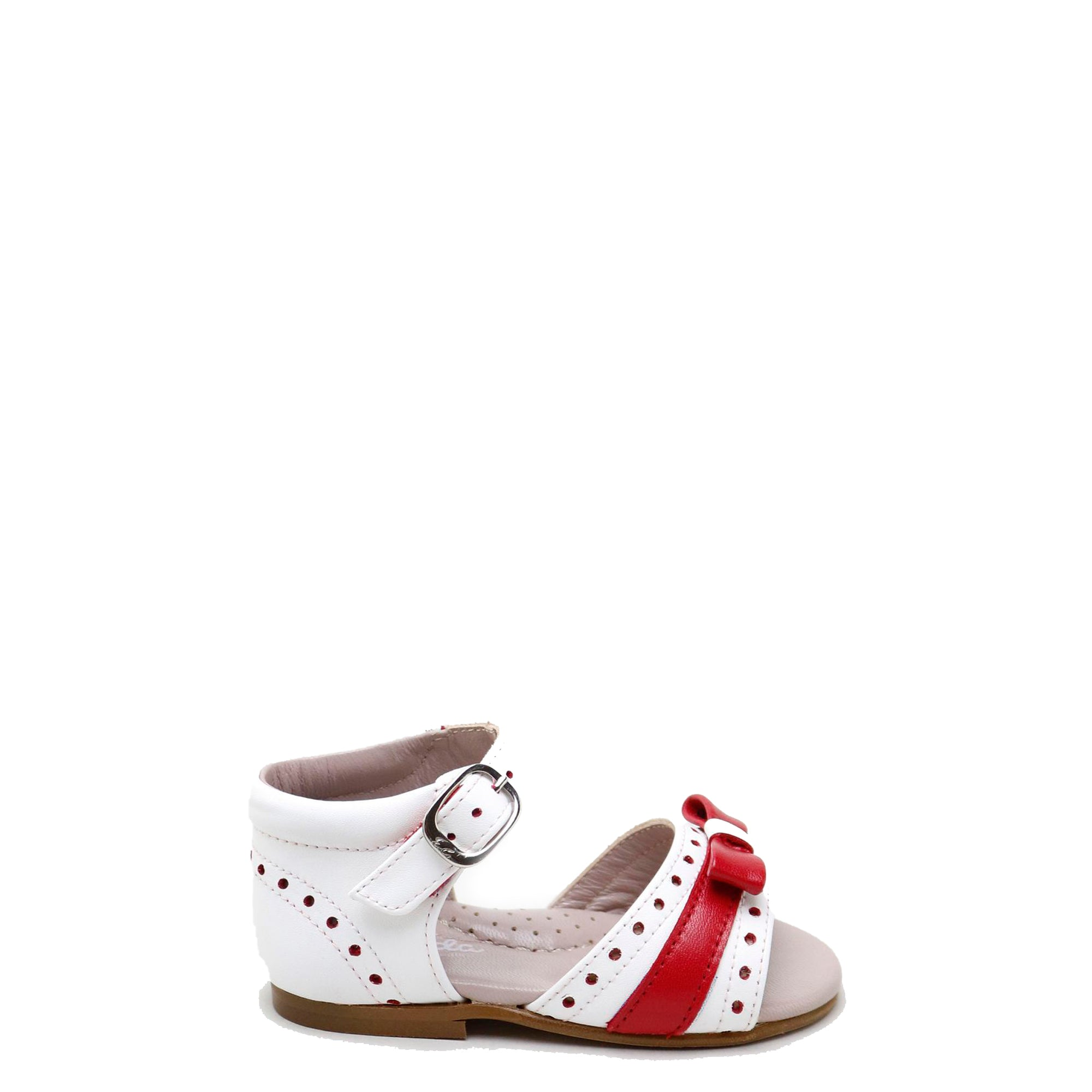Papanatas White and Red Bow Baby Sandal-Tassel Children Shoes