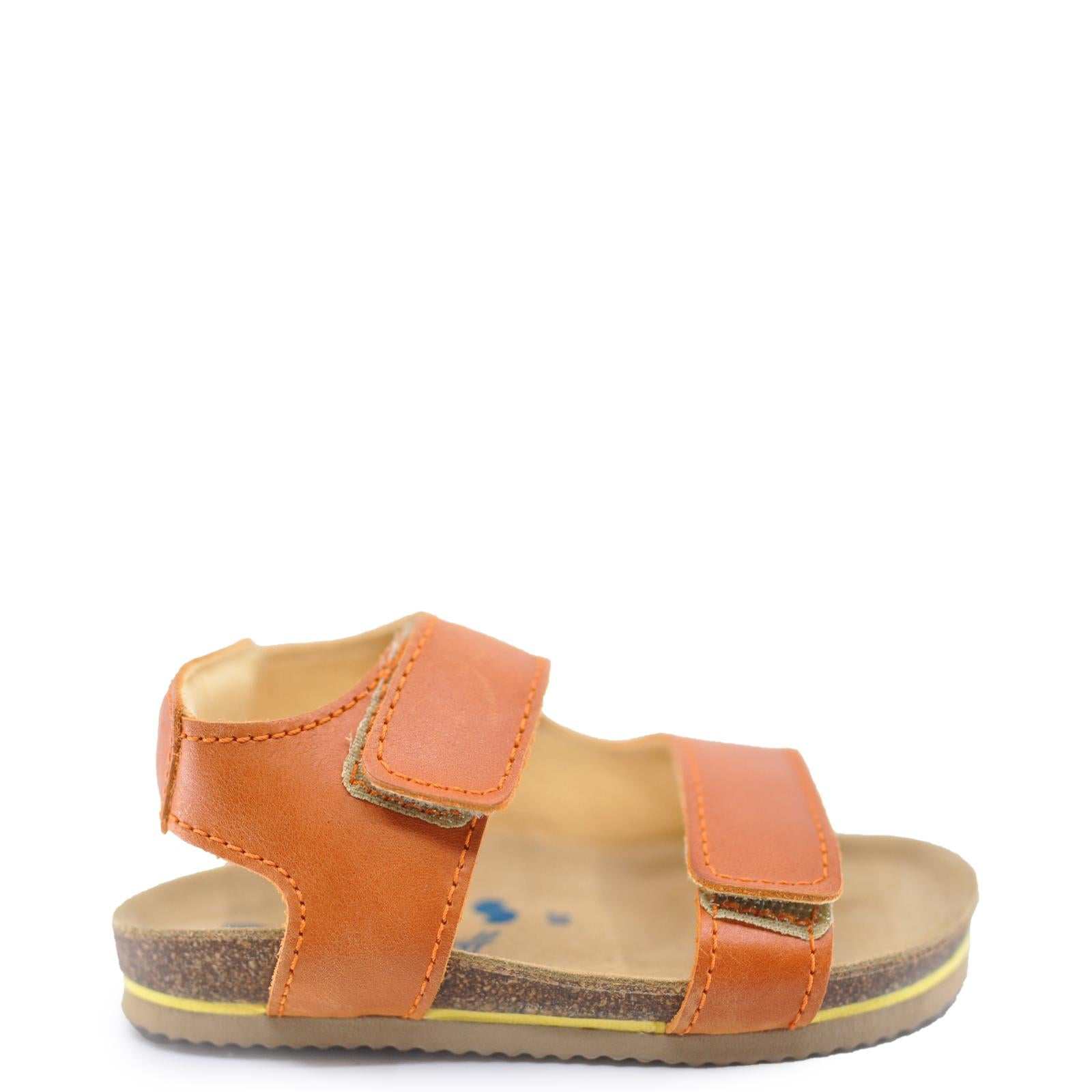 Dulis Cognac Velcro Sandal-Tassel Children Shoes