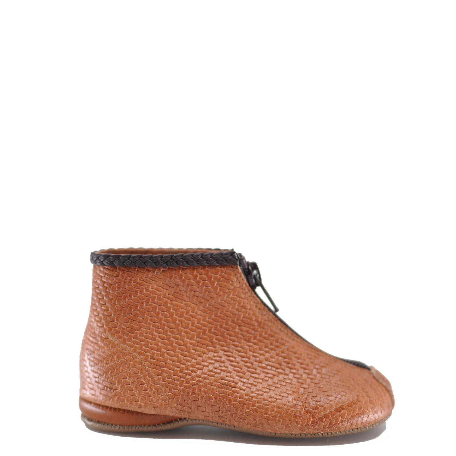 Pepe Luggage Weave Zipper Bootie