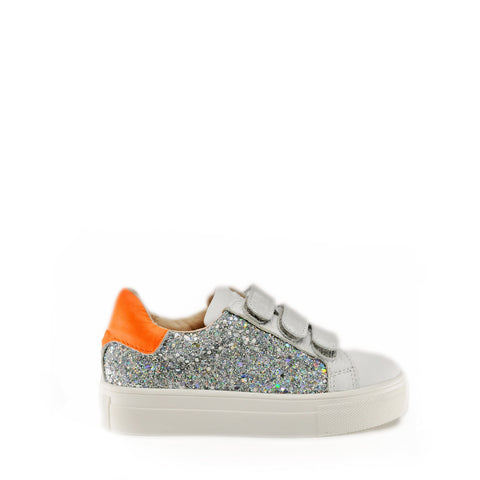 Acebos Multicolor Glitter Velcro Sneaker-Tassel Children Shoes