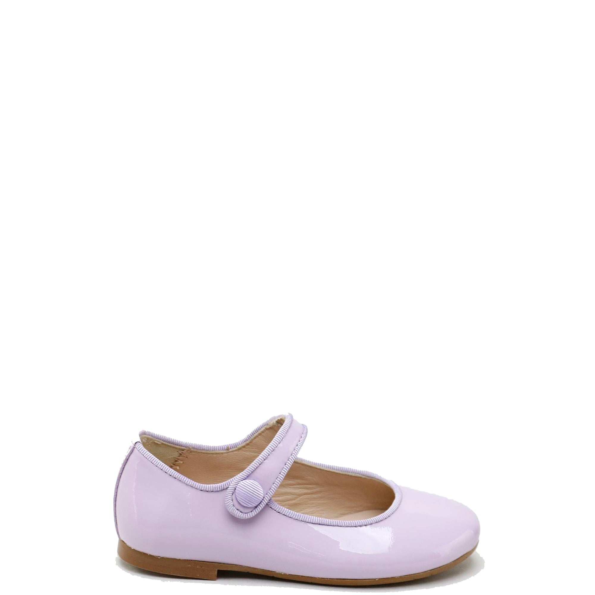 Papanatas Lilac Patent Mary Jane-Tassel Children Shoes