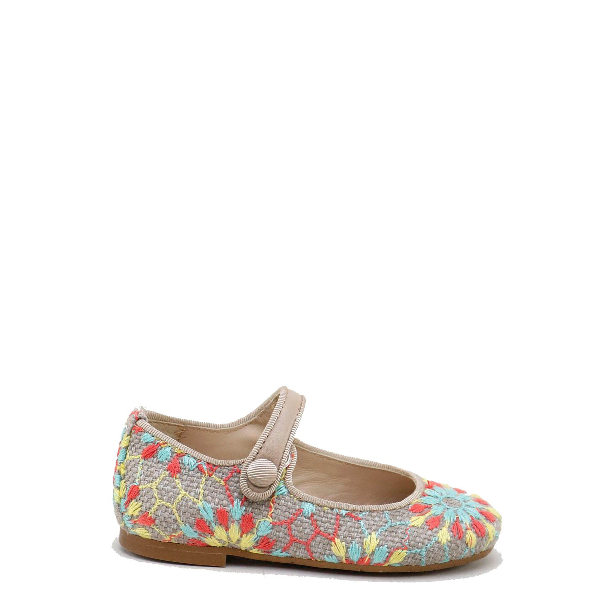Papanatas Pastel Woven Mary Jane-Tassel Children Shoes