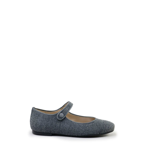 Papanatas Dark Gray Wool Mary Jane-Tassel Children Shoes