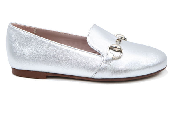 Papanatas Silver Buckle Smoking Slipper-Tassel Children Shoes