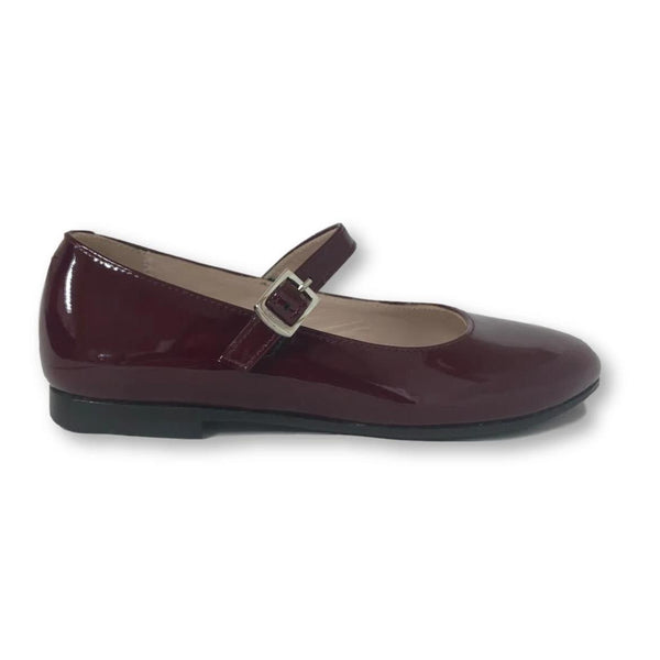 Beberlis Wine Patent Mary Jane-Tassel Children Shoes