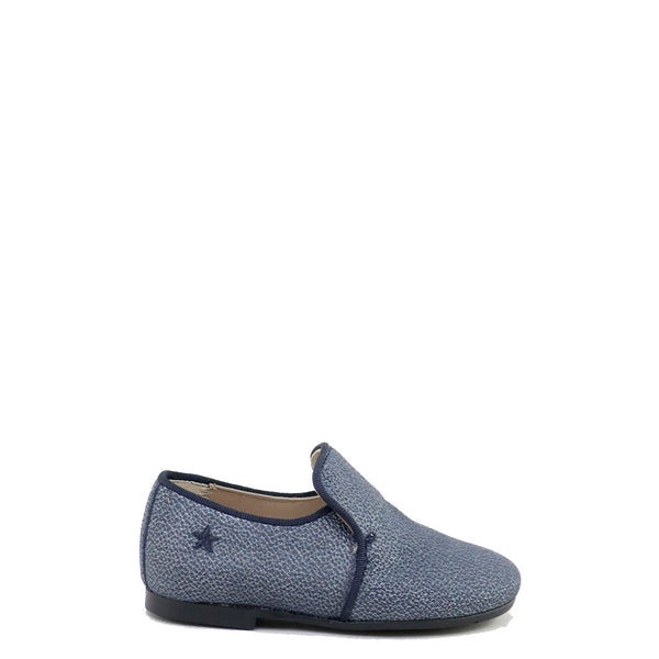 Papanatas Ocean Pebbled Leather Smoking Loafer-Tassel Children Shoes