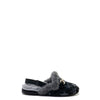 Papanatas Black Suede Star Fur Mule-Tassel Children Shoes