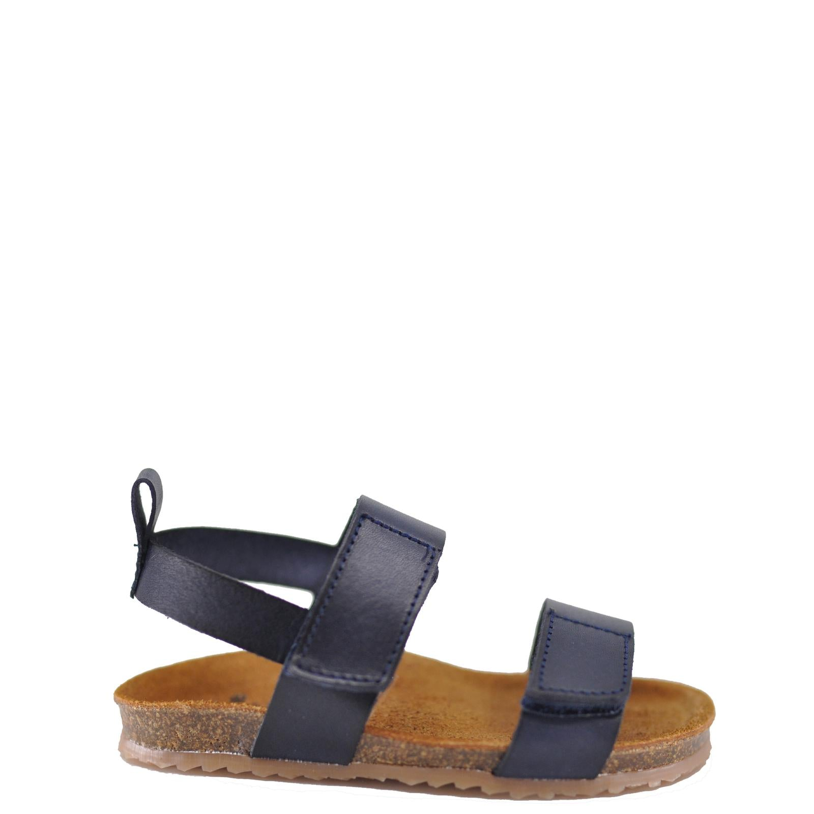 Pepe Navy Leather Velcro Sandal