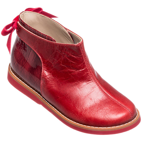 Elephantito Red Bow Bootie-Tassel Children Shoes