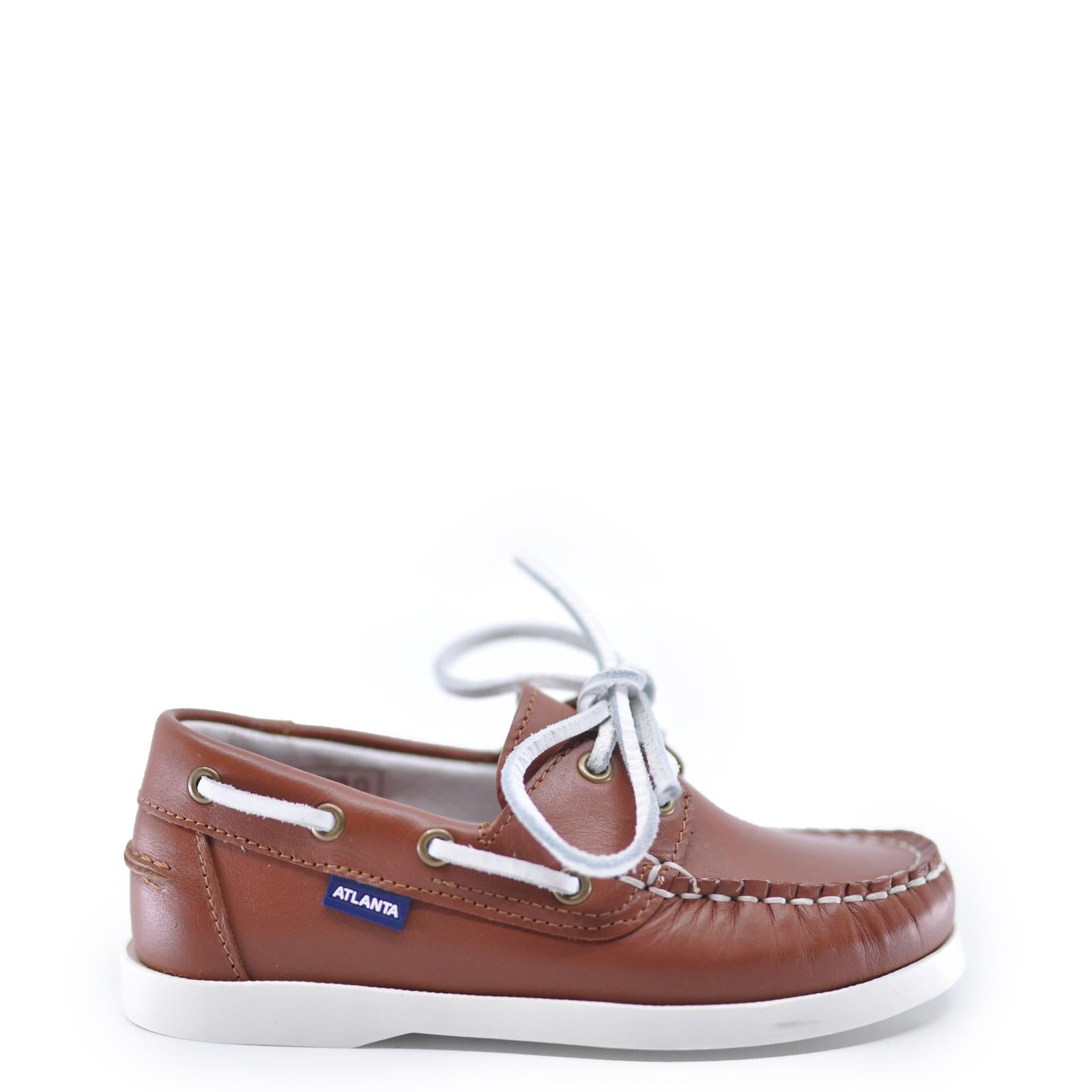 Atlanta Mocassin Brown Boat Shoe-Tassel Children Shoes
