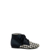 Papanatas Gold and Black Tweed with Pony Hair Bootie-Tassel Children Shoes