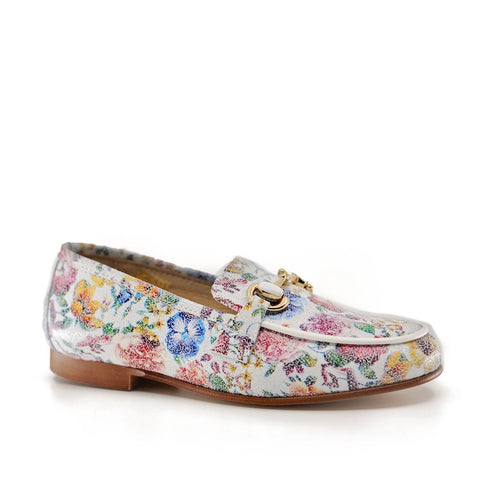 Hoo Floral Chain Loafer-Tassel Children Shoes
